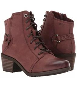 Teva Foxy Lace NEW Redwood Nubuck Leather Lace Up Bootie Wom