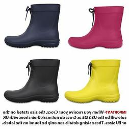 Crocs Freesail Shorty Rain Women Roomy Fit Wellington Boots