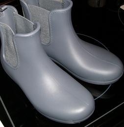 Crocs Freesail Womens Gray Chelsea Slip On Ankle Rain Boots