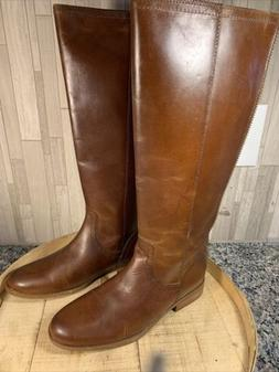 Frye and Co. 8.5M Wide Calf Jolie Back Zip Leather Tall Knee