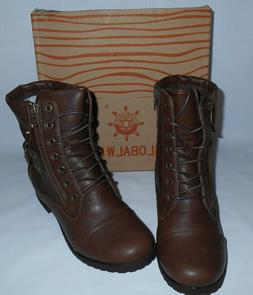 Global Win Women's Brown Strap In Fashion Boots Size 7 New I