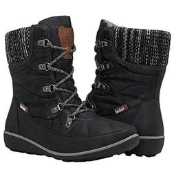 GLOBALWIN Women's 1841 Black Winter Snow Boots 7M