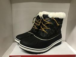 GLOBALWIN Winter Fur Lined Snow Boots Black Women's Size 10