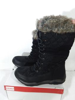 GLOBALWIN Women's Fashion Snow Boots - black Size 8