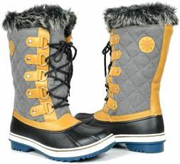 Globalwin Womens W1560-2 Waterproof Winter Boots, Grey, 10