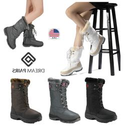 DREAM PAIRS Women Zip Waterproof Faux Fur Lined Mid Calf  Wi