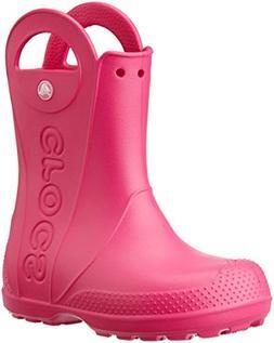 Crocs Kids' Handle It Rain Boot - K, Candy Pink, 9 M US Todd