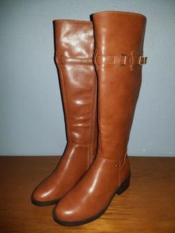 Toetos Cognac Womens Riding Boots Knee High Size 6.5
