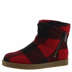 Indigo Rd. Womens Ashley Faux Fur Closed Toe Ankle Fashion B