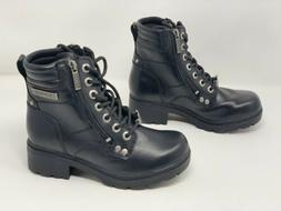 "Harley Davidson Inman Mills 5"" Black Leather Boots Booties,"
