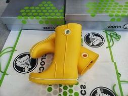 CROCS JAUNT GEORGIE RAIN SNOW BOOT SHOE~Yellow~Women 4 Mens