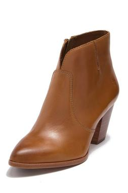 Frye Jennifer Ankle Booties Cognac Tan Smooth Leather 7.5 M;