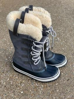 Sorel Joan of Arctic Shearling Snow Winter Boot Dark Grey Bl