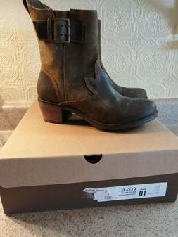 Olukai Kaiulani seal brown/mustang womens leather boots size