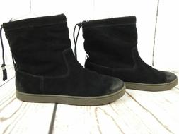 Olukai Kapa Moe Ladies Pull On Ankle Boots Black Suede Leath