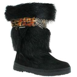 Bearpaw Kola Women's Goat Fur Sheepskin Exotic Snow Boots