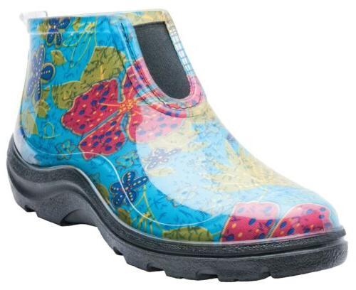 Sloggers 2841BL09 Size 9 Women's Blue Rain & Garden Ankle Bo