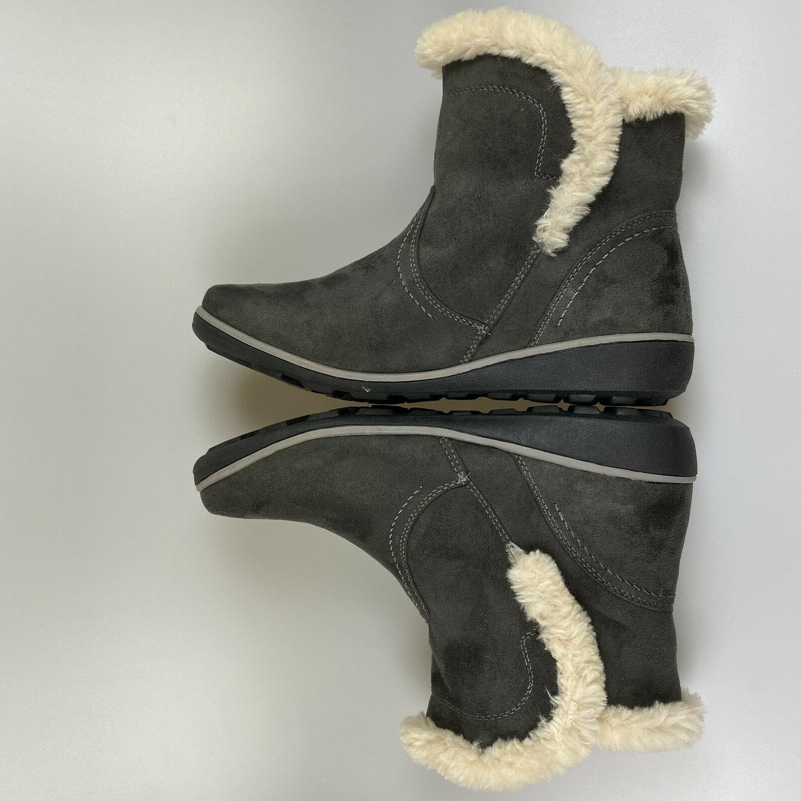 $69 NEW Global Women's Suede Fur Lined