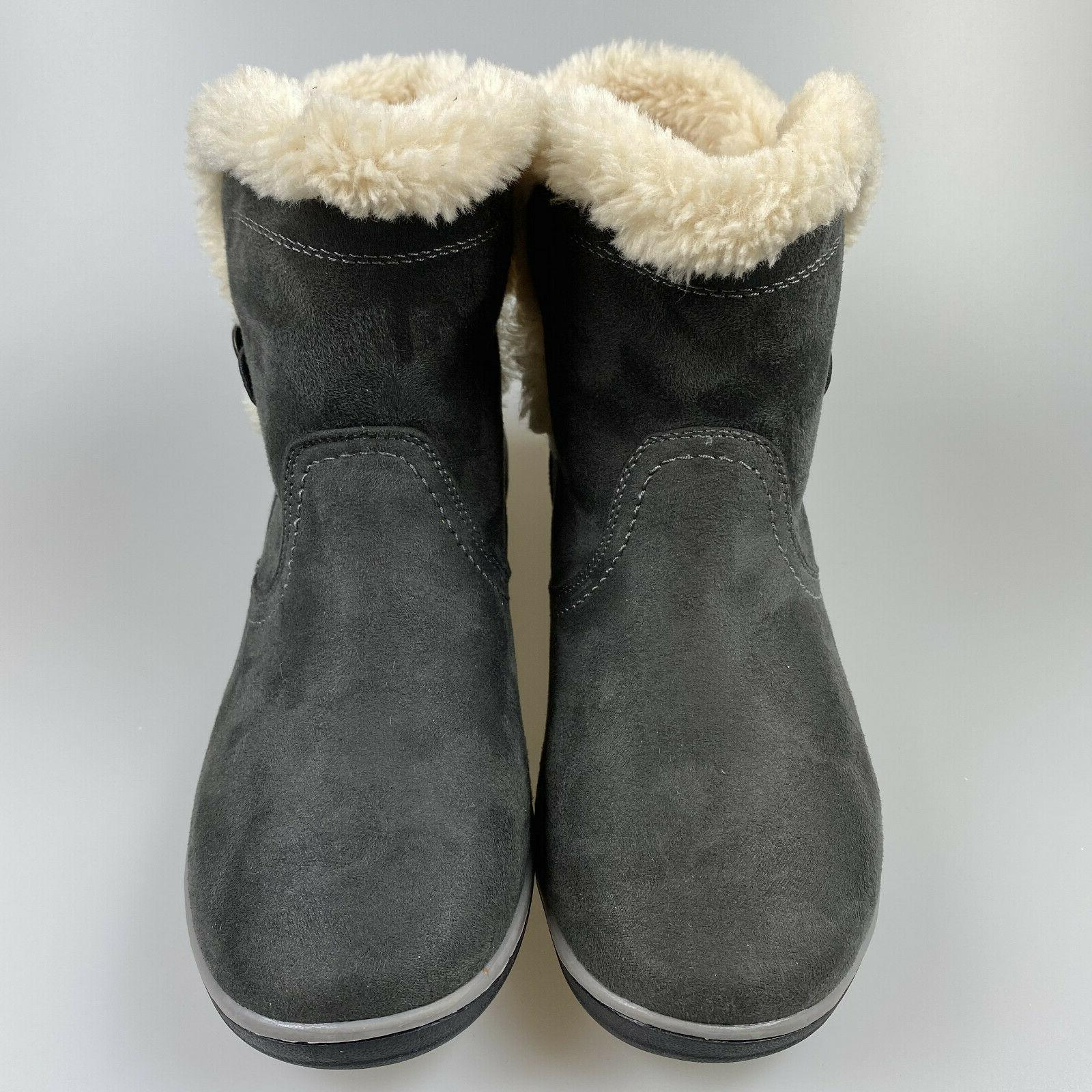 $69 Win Women's Suede Boots Lined Shoes NWT