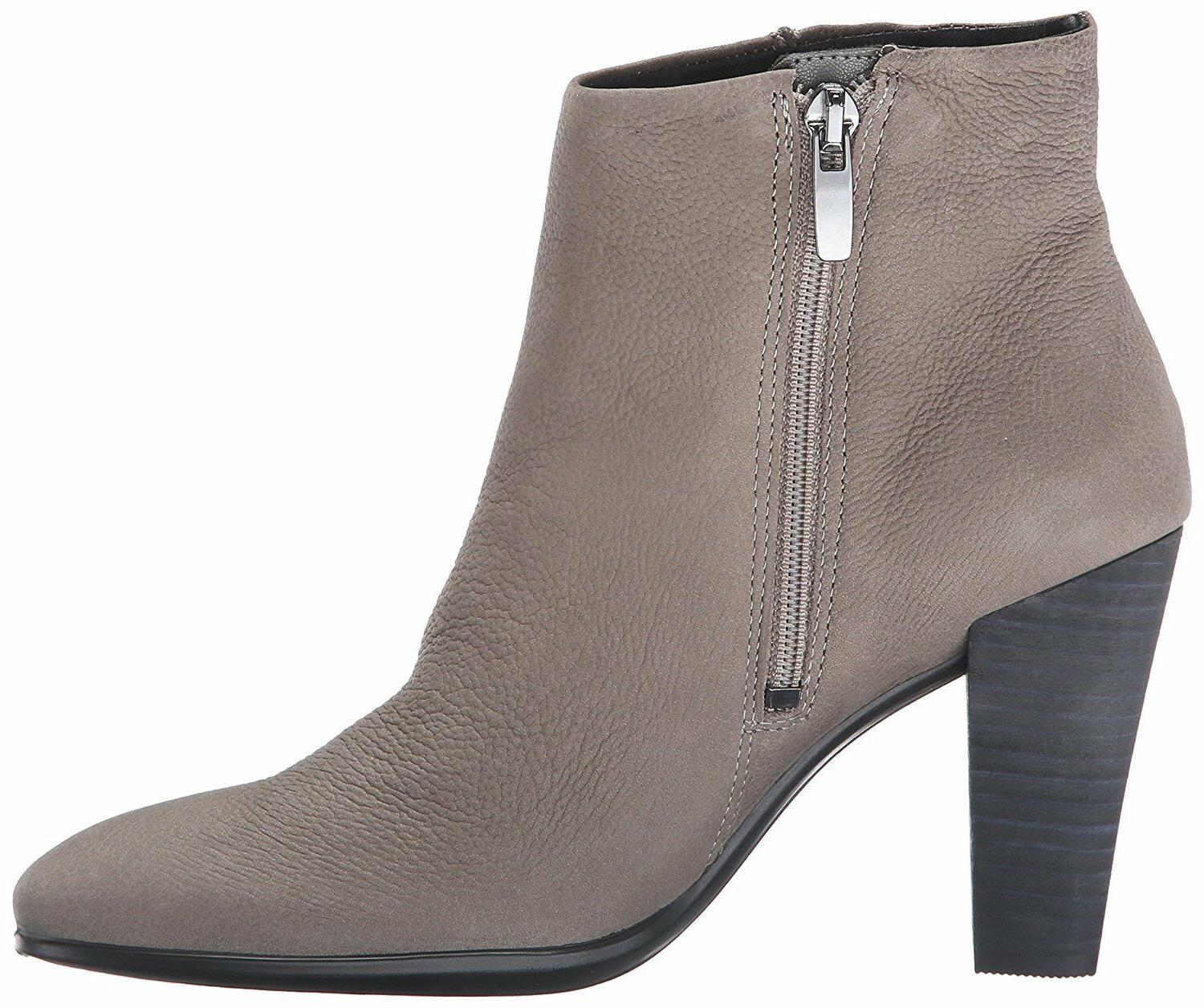 ECCO women SHAPE 75 Ankle BOOTS Low Cut Bootie Zip Slip On G