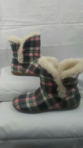 Vionic Boots Women Faux Fur Lined Slipper Booties Size US 6