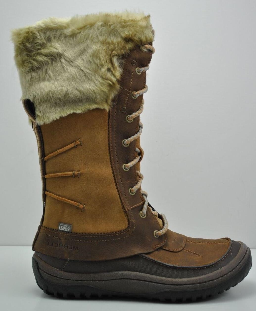 Womens Merrell Decora Prelude Waterproof Brown Leather Boots