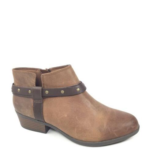 Clarks Addiy Zoie Womens Size 7.5 M Tan Leather Fashion Ankl