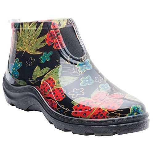 2841bk09 women rain garden ankle