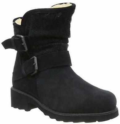avery boots 8 cow suede navy blue