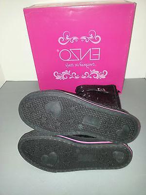 ENZO Black Lace/Buckle Up Sneaker Girls