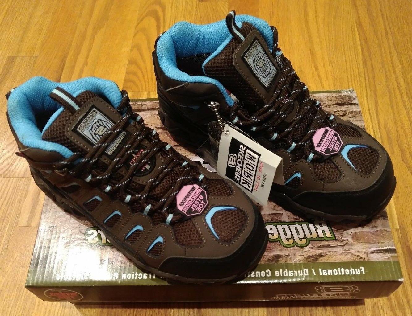 Skechers Work Women's Blais Ebz Steel Toe Slip Resistant Boo