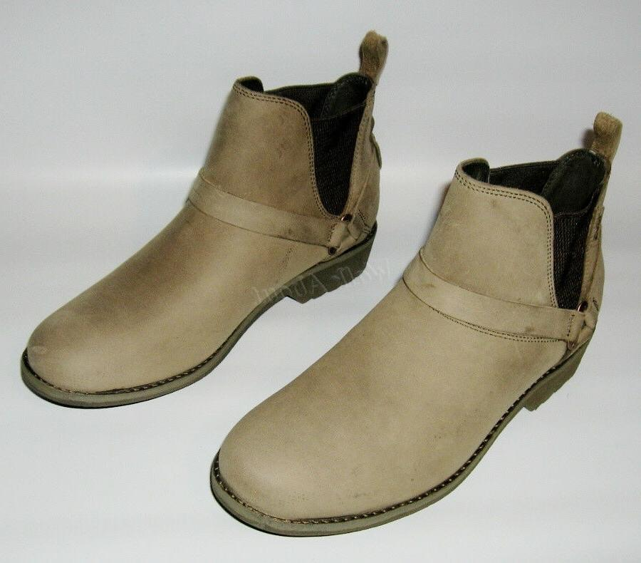 NEW DELAVINA DOS CHELSEA LEATHER ANKLE BOOTS