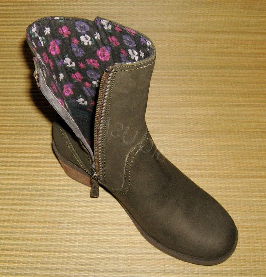 BRAND Teva Mid Boots Black Leather 7.5