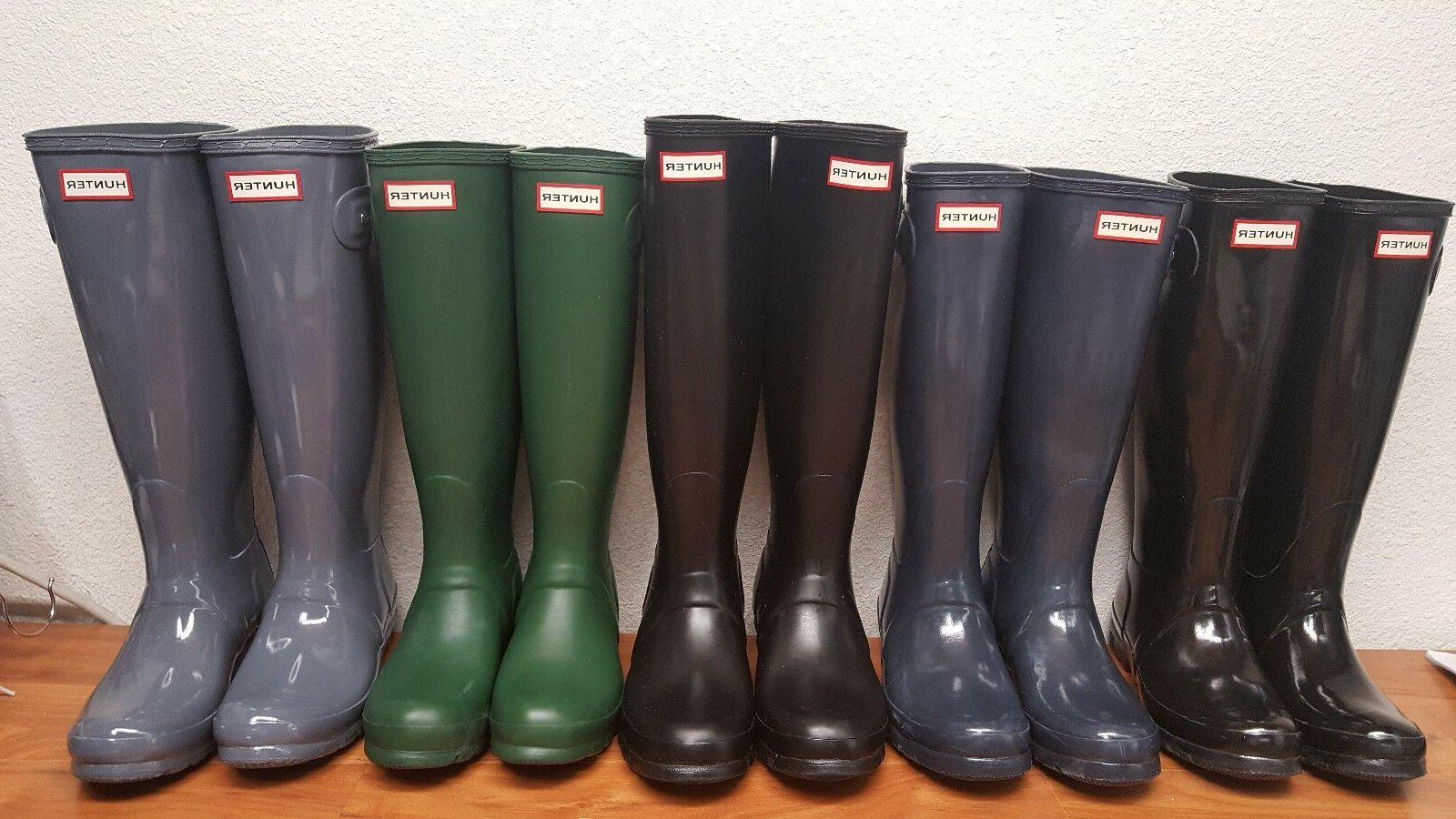 Brand New Hunter Original Tall Rain Boots Women's Matte & Gl