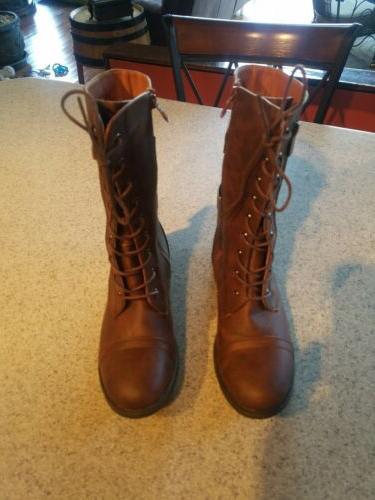 Brand New Top Moda's Brown 10 Mid-Calf Zipper Boots