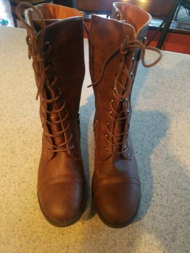 Brand New Brown Woman's SIZE Mid-Calf