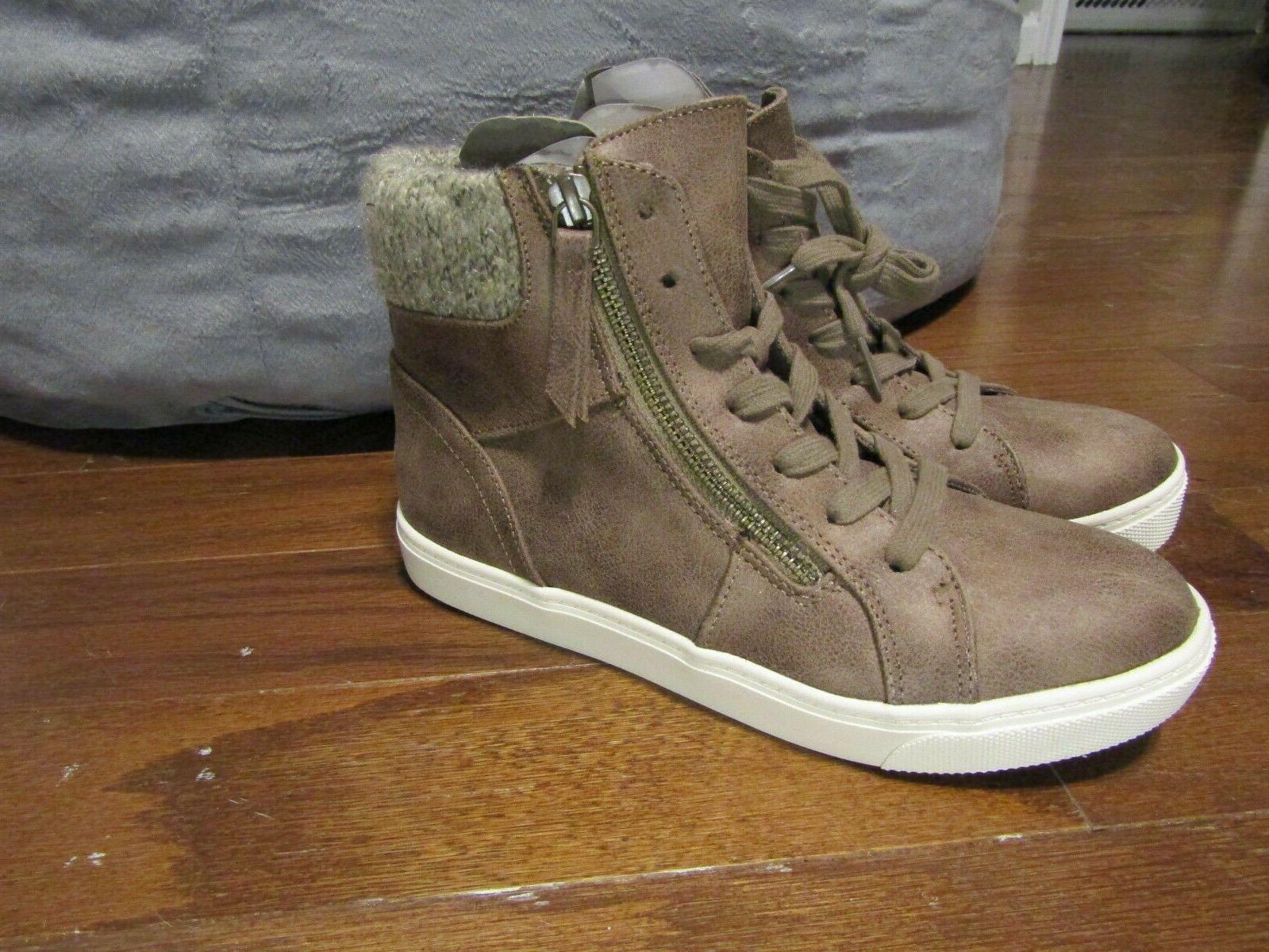 Curfew Hi Top Casual Boots Girls Size