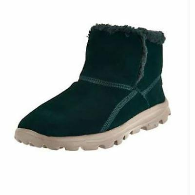 Skechers Chugga Imprint Womens Green Suede Warm Winter Boots