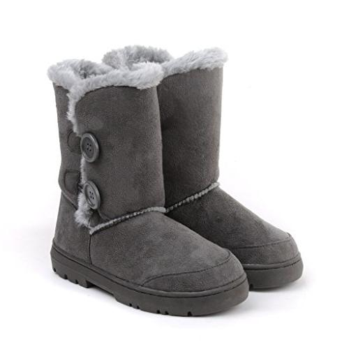 CLPP'LI snow boots Button Waterproof Winter
