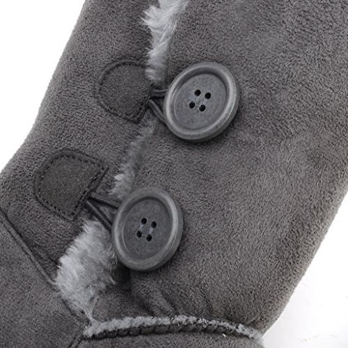 CLPP'LI women boots Button Fur Waterproof