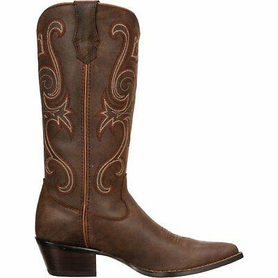 Crush by Durango Brown Jealousy Cowgirl heel height