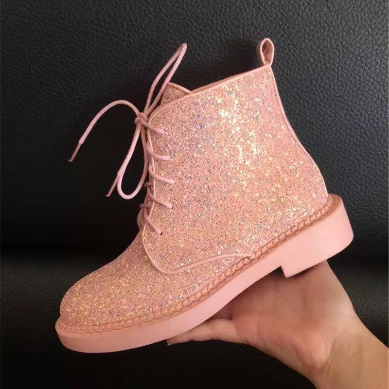 Crystal <font><b>Boots</b></font> Female Ankle Warm <font><b>Brand</b></font> Woman Glitter Flat