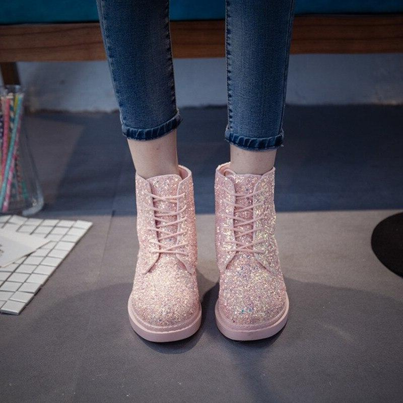 Crystal High <font><b>Boots</b></font> Heels Platform Female <font><b>Brand</b></font> Flat <font><b>Boots</b></font>