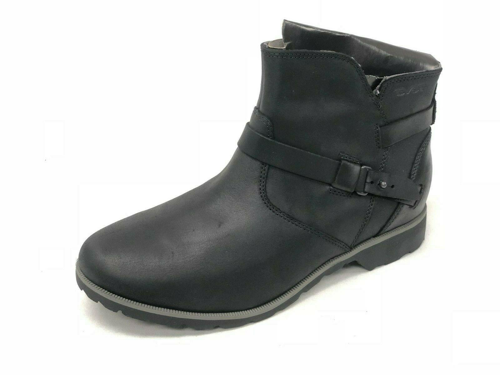 de la vina ankle black leather boots
