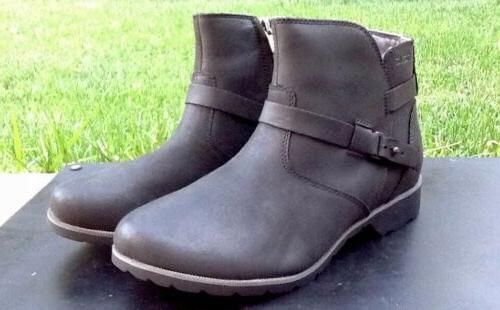de la vina waterproof leather booties womens