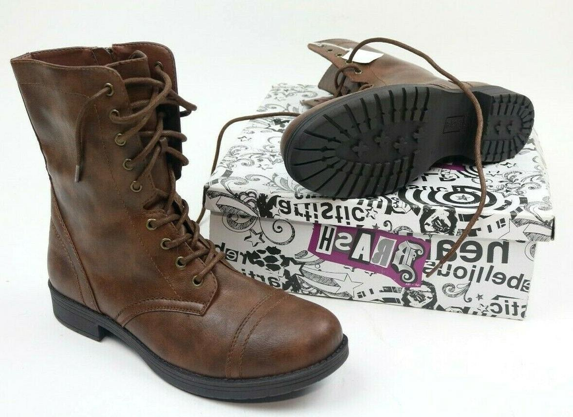 deejay womens boots brown high top military