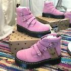 Dr.Marten X Lazy Oaf Pink Heart Buckle Boot Woman UK 8 US 10