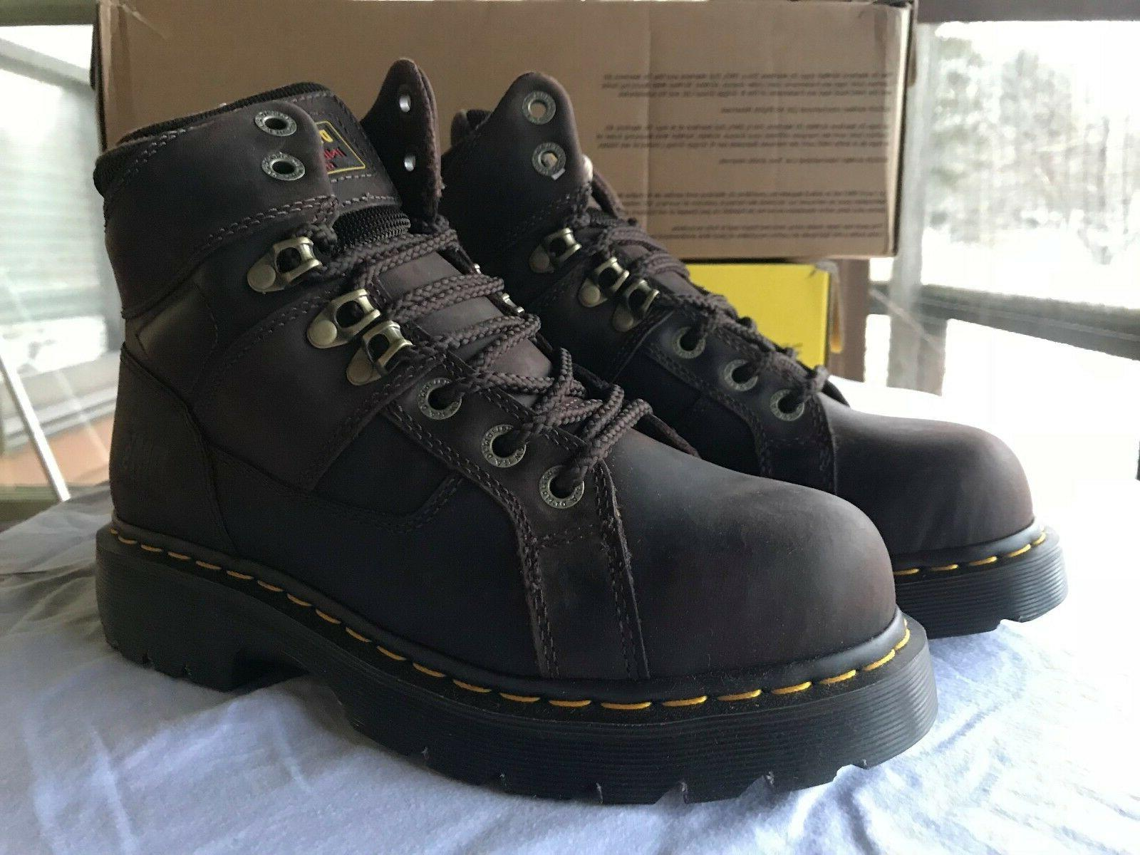 Dr. Martens New Ironbridge Steel Toe Boot Brown Gaucho Men's