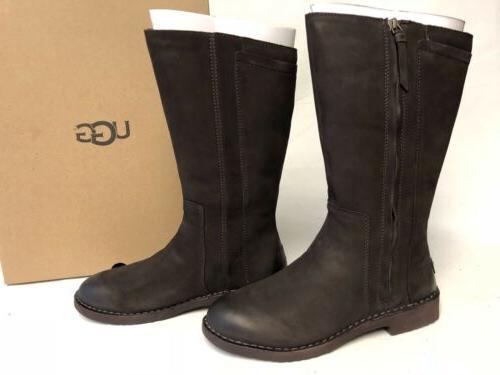 Ugg Australia Elly Stout Brown Tall Nubuck Boots 1017505 Woo
