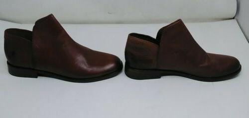 Frye Womens Brown Leather Slip Boots Size